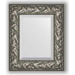 Зеркало с фацетом в багетной раме Evoform Exclusive 49x59 см, византия серебро 99 мм (BY 3364)