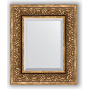 Зеркало с фацетом в багетной раме Evoform Exclusive 49x59 см, вензель бронзовый 101 мм (BY 3370) цена и фото
