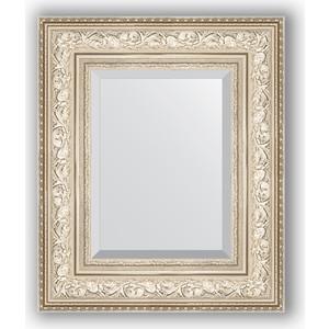 Зеркало с фацетом в багетной раме Evoform Exclusive 50x60 см, виньетка серебро 109 мм (BY 3374) зеркало с фацетом в багетной раме поворотное evoform exclusive 80x170 см виньетка серебро 109 мм by 3608