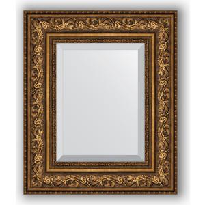 Зеркало с фацетом в багетной раме Evoform Exclusive 50x60 см, виньетка состаренная бронза 109 мм (BY 3375)