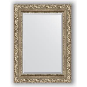 Зеркало с фацетом в багетной раме поворотное Evoform Exclusive 55x75 см, виньетка античное серебро 85 мм (BY 3383)
