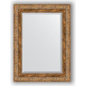 Зеркало с фацетом в багетной раме поворотное Evoform Exclusive 55x75 см, виньетка античная бронза 85 мм (BY 3384) цена