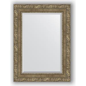 Зеркало с фацетом в багетной раме поворотное Evoform Exclusive 55x75 см, виньетка античная латунь 85 мм (BY 3385) вытяжка krona seliya 600 white push button