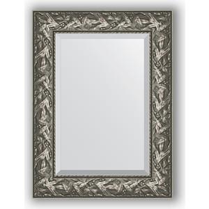 Зеркало с фацетом в багетной раме поворотное Evoform Exclusive 59x79 см, византия серебро 99 мм (BY 3390) зеркало с фацетом в багетной раме поворотное evoform exclusive 80x170 см виньетка серебро 109 мм by 3608