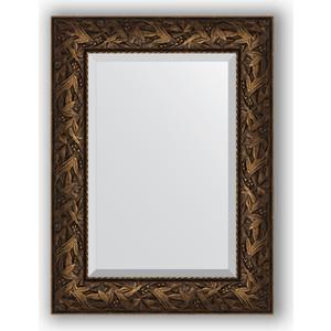 цена на Зеркало с фацетом в багетной раме поворотное Evoform Exclusive 59x79 см, византия бронза 99 мм (BY 3391)