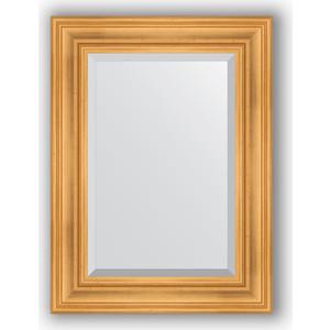 Зеркало с фацетом в багетной раме поворотное Evoform Exclusive 59x79 см, травленое золото 99 мм (BY 3392) зеркало с фацетом в багетной раме поворотное evoform exclusive 59x119 см травленое золото 99 мм by 3496