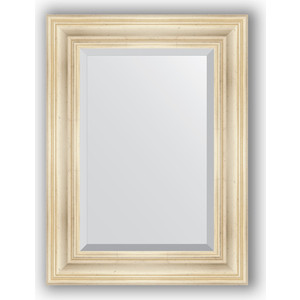 Зеркало с фацетом в багетной раме поворотное Evoform Exclusive 59x79 см, травленое серебро 99 мм (BY 3393) зеркало с фацетом в багетной раме поворотное evoform exclusive 80x170 см виньетка серебро 109 мм by 3608