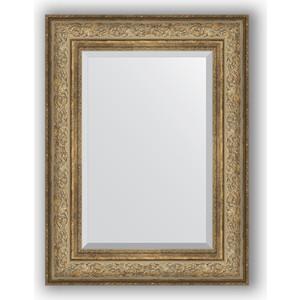 Зеркало с фацетом в багетной раме поворотное Evoform Exclusive 60x80 см, виньетка античная бронза 109 мм (BY 3399) зеркало с фацетом в багетной раме поворотное evoform exclusive 80x170 см виньетка серебро 109 мм by 3608