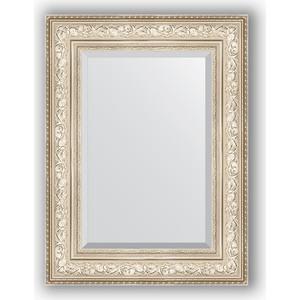 Зеркало с фацетом в багетной раме поворотное Evoform Exclusive 60x80 см, виньетка серебро 109 мм (BY 3400) зеркало с фацетом в багетной раме поворотное evoform exclusive 80x170 см виньетка серебро 109 мм by 3608