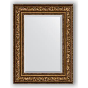 Зеркало с фацетом в багетной раме поворотное Evoform Exclusive 60x80 см, виньетка состаренная бронза 109 мм (BY 3401) зеркало с фацетом в багетной раме поворотное evoform exclusive 80x170 см виньетка серебро 109 мм by 3608