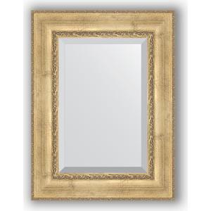 Зеркало с фацетом в багетной раме поворотное Evoform Exclusive 62x82 см, состаренное серебро с орнаментом 120 мм (BY 3402) фото