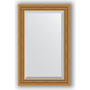 Зеркало с фацетом в багетной раме поворотное Evoform Exclusive 53x83 см, состаренное золото плетением 70 мм (BY 3405)