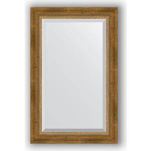 Зеркало с фацетом в багетной раме поворотное Evoform Exclusive 53x83 см, состаренное бронза плетением 70 мм (BY 3406)