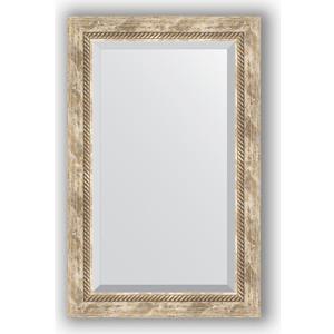 Зеркало с фацетом в багетной раме поворотное Evoform Exclusive 53x83 см, прованс с плетением 70 мм (BY 3407)