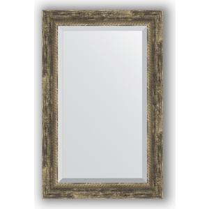 все цены на Зеркало с фацетом в багетной раме поворотное Evoform Exclusive 53x83 см, старое дерево с плетением 70 мм (BY 3408) онлайн