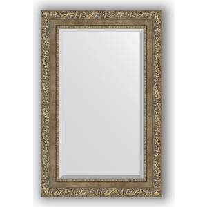 Зеркало с фацетом в багетной раме поворотное Evoform Exclusive 55x85 см, виньетка античная латунь 85 мм (BY 3411) зеркало с фацетом в багетной раме поворотное evoform exclusive 115x175 см виньетка античная латунь 85 мм by 3619