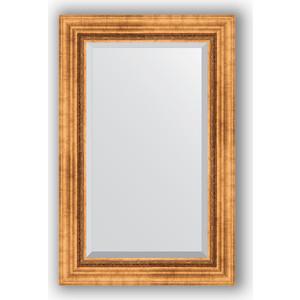 Зеркало с фацетом в багетной раме поворотное Evoform Exclusive 56x86 см, римское золото 88 мм (BY 3412) цены