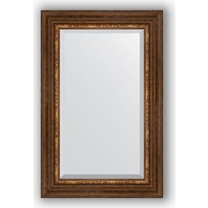 Зеркало с фацетом в багетной раме поворотное Evoform Exclusive 56x86 см, римская бронза 88 мм (BY 3413) цены