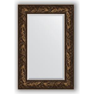 цена на Зеркало с фацетом в багетной раме поворотное Evoform Exclusive 59x89 см, византия бронза 99 мм (BY 3417)