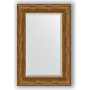 Зеркало с фацетом в багетной раме поворотное Evoform Exclusive 59x89 см, травленая бронза 99 мм (BY 3420) зеркало с гравировкой поворотное evoform exclusive g 69x91 см в багетной раме травленая бронза 99 мм by 4118