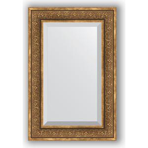 Зеркало с фацетом в багетной раме поворотное Evoform Exclusive 59x89 см, вензель бронзовый 101 мм (BY 3422)