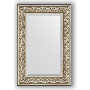 Зеркало с фацетом в багетной раме поворотное Evoform Exclusive 60x90 см, барокко серебро 106 мм (BY 3424) зеркало с фацетом в багетной раме поворотное evoform exclusive 65x150 см барокко серебро 106 мм by 3554