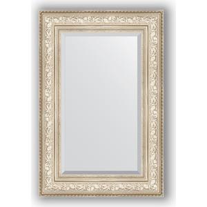 Зеркало с фацетом в багетной раме поворотное Evoform Exclusive 60x90 см, виньетка серебро 109 мм (BY 3426) зеркало с фацетом в багетной раме поворотное evoform exclusive 80x170 см виньетка серебро 109 мм by 3608