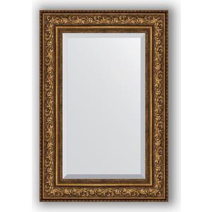Зеркало с фацетом в багетной раме поворотное Evoform Exclusive 60x90 см, виньетка состаренная бронза 109 мм (BY 3427) зеркало с фацетом в багетной раме поворотное evoform exclusive 60x90 см виньетка серебро 109 мм by 3426