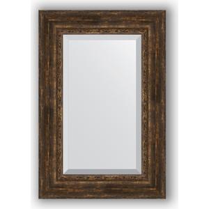 Зеркало с фацетом в багетной раме поворотное Evoform Exclusive 62x92 см, состаренное дерево орнаментом 120 мм (BY 3430)