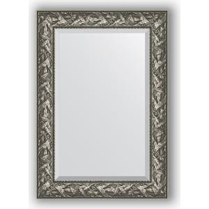 Зеркало с фацетом в багетной раме поворотное Evoform Exclusive 69x99 см, византия серебро 99 мм (BY 3442)