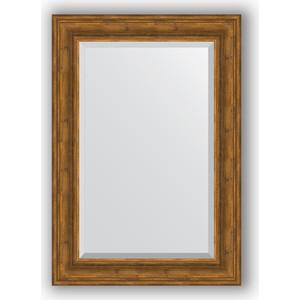 Зеркало с фацетом в багетной раме поворотное Evoform Exclusive 69x99 см, травленая бронза 99 мм (BY 3446) зеркало с фацетом в багетной раме evoform exclusive 59x119 см травленая бронза 99 мм by 3498
