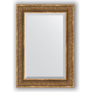 Зеркало с фацетом в багетной раме поворотное Evoform Exclusive 69x99 см, вензель бронзовый 101 мм (BY 3448) цена и фото