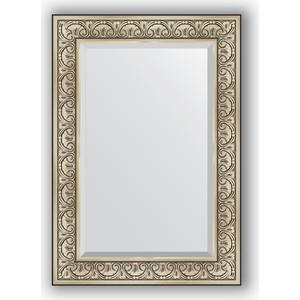 Зеркало с фацетом в багетной раме поворотное Evoform Exclusive 70x100 см, барокко серебро 106 мм (BY 3450)