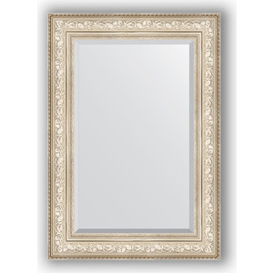 Зеркало с фацетом в багетной раме поворотное Evoform Exclusive 70x100 см, виньетка серебро 109 мм (BY 3452) зеркало с фацетом в багетной раме поворотное evoform exclusive 80x170 см виньетка серебро 109 мм by 3608