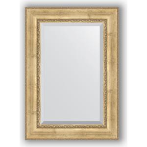Зеркало с фацетом в багетной раме поворотное Evoform Exclusive 72x102 см, состаренное серебро орнаментом 120 мм (BY 3454)
