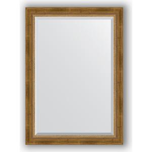 Зеркало с фацетом в багетной раме поворотное Evoform Exclusive 73x103 см, состаренное бронза плетением 70 мм (BY 3458)