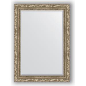 Зеркало с фацетом в багетной раме поворотное Evoform Exclusive 75x105 см, виньетка античное серебро 85 мм (BY 3461)