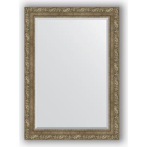 Зеркало с фацетом в багетной раме поворотное Evoform Exclusive 75x105 см, виньетка античная латунь 85 мм (BY 3463)