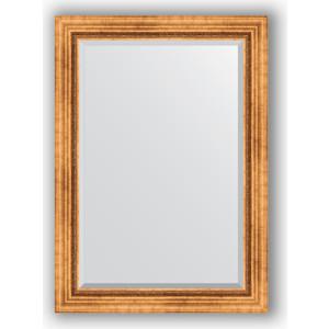 Зеркало с фацетом в багетной раме поворотное Evoform Exclusive 76x106 см, римское золото 88 мм (BY 3464) уорнер элла римское лето роман