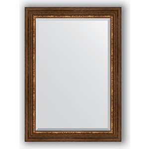 Зеркало с фацетом в багетной раме поворотное Evoform Exclusive 76x106 см, римская бронза 88 мм (BY 3465)