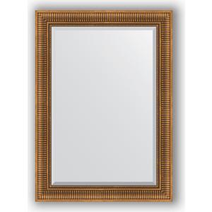 Зеркало с фацетом в багетной раме поворотное Evoform Exclusive 77x107 см, бронзовый акведук 93 мм (BY 3466) зеркало с фацетом в багетной раме поворотное evoform exclusive 67x157 см серебряный акведук 93 мм by 1288
