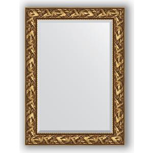 цена на Зеркало с фацетом в багетной раме поворотное Evoform Exclusive 79x109 см, византия золото 99 мм (BY 3467)