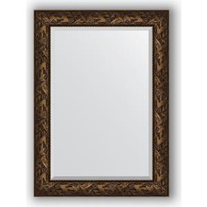 цена на Зеркало с фацетом в багетной раме поворотное Evoform Exclusive 79x109 см, византия бронза 99 мм (BY 3469)