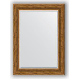 Зеркало с фацетом в багетной раме поворотное Evoform Exclusive 79x109 см, травленая бронза 99 мм (BY 3472) фото