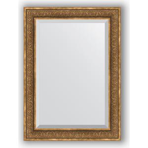 Зеркало с фацетом в багетной раме поворотное Evoform Exclusive 79x109 см, вензель бронзовый 101 мм (BY 3474)