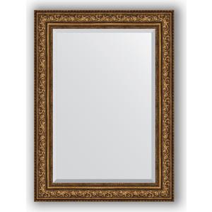 Зеркало с фацетом в багетной раме поворотное Evoform Exclusive 80x110 см, виньетка состаренная бронза 109 мм (BY 3479) зеркало с фацетом в багетной раме поворотное evoform exclusive 80x110 см виньетка серебро 109 мм by 3478