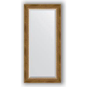 Зеркало с фацетом в багетной раме поворотное Evoform Exclusive 53x113 см, состаренное бронза плетением 70 мм (BY 3484)