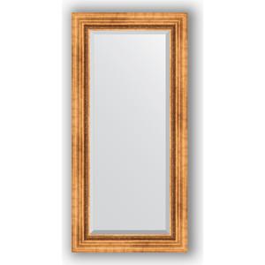 Зеркало с фацетом в багетной раме поворотное Evoform Exclusive 56x116 см, римское золото 88 мм (BY 3490)