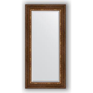 Зеркало с фацетом в багетной раме поворотное Evoform Exclusive 56x116 см, римская бронза 88 мм (BY 3491)