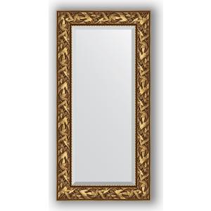 Зеркало с фацетом в багетной раме поворотное Evoform Exclusive 59x119 см, византия золото 99 мм (BY 3493)